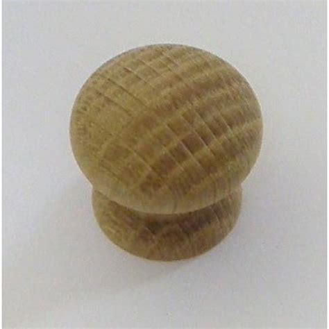 Oak Knobs by Knob Style D 30mm Oak Sanded Wooden Knob