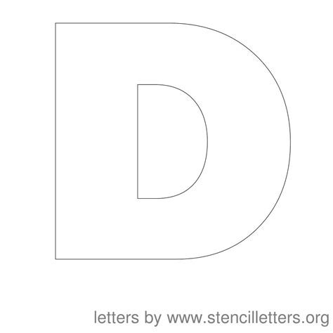 Printable Letter D Stencil | 6 best images of printable letter stencils d free