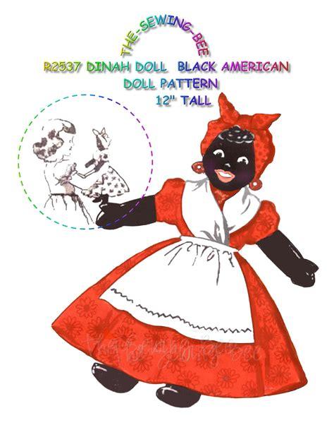 black doll patterns dinah black mammy doll pattern vintage ebay