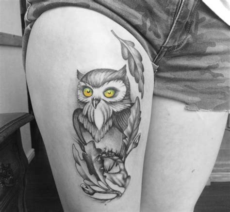 owl tattoo geo uhr eulen t 228 towierungen and eule on pinterest
