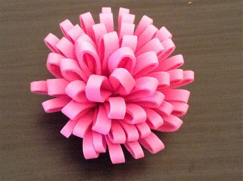 Handmade Foam Flowers - how to make a foam flower
