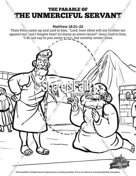 unforgiving servant bible lesson and crafts