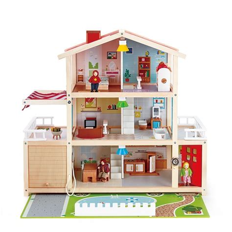 dolls house boutique hape doll family mansion dolls house
