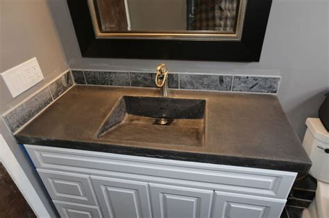Molded Sink Vanity Top by Concrete Vanity Top With Molded In Sink By Homeprosplus On