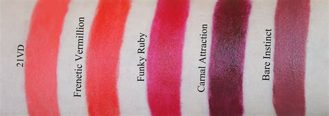 by terry rouge terrybly swatches 21vd frenetic vermillion and funky by terry rouge terrybly roundup blog swatches shameless