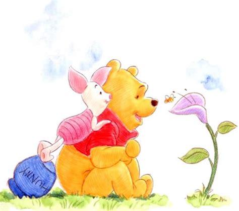 imagenes de winnie pooh y puerquito hermosa pintura de winnie pooh sentado y puerquito parado