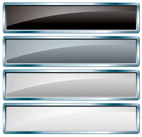glass textured vector banners material  vector banner