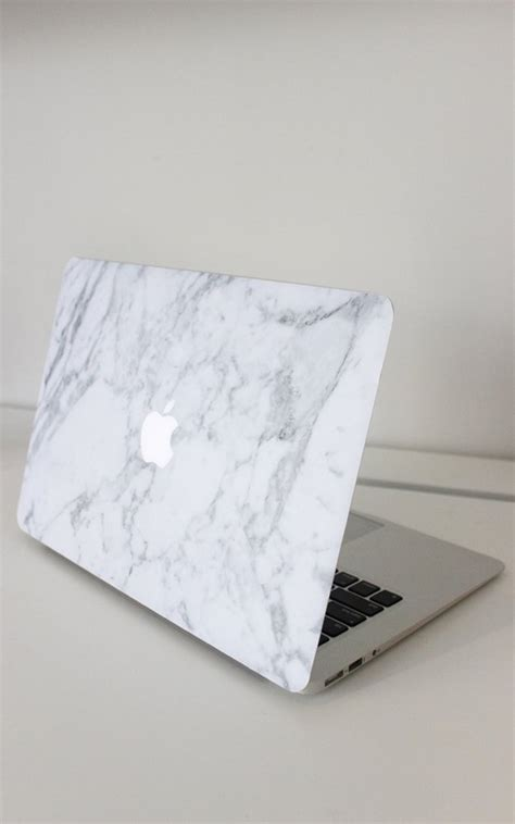 Macbook Pro 13 Marble White White 1 laptop decal cover in black and white marble 13 inch macbook air showpo fashion