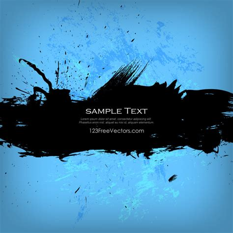 grunge banner on blue background 123freevectors