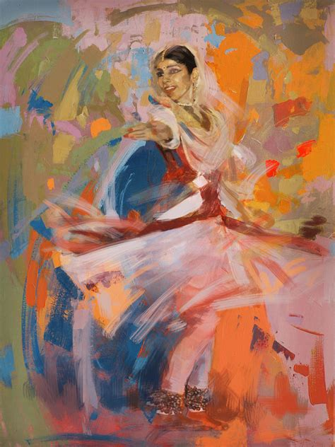 Home Decor Blogs India by Classical Dance Art 6 Painting By Maryam Mughal