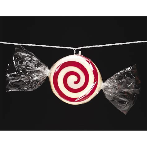 darice 60831 50 light 15 white wire peppermint candy