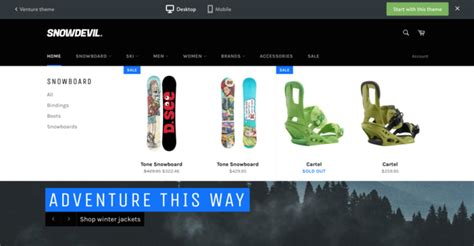 shopify themes with drop down menu ecommerce university thumbnails drop down menu venture