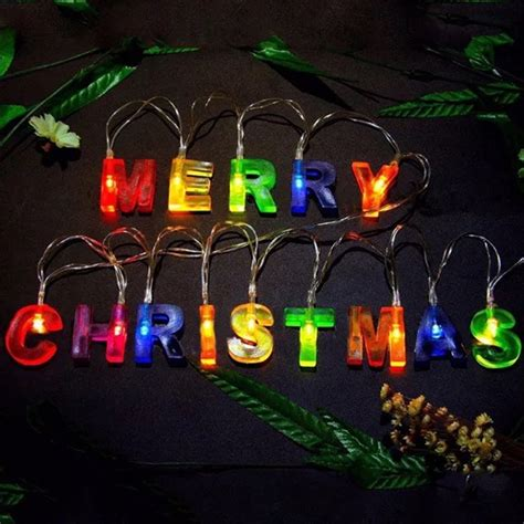 battery powered merry christmas happy birthday colorful led fairy string light  party patio