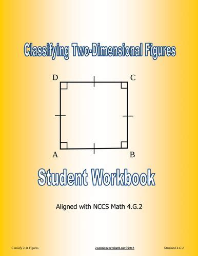 student workbook for mathematics 1446285944 classifying 2 d figures student workbook aligned with nccs math 4 g 2 d math and student