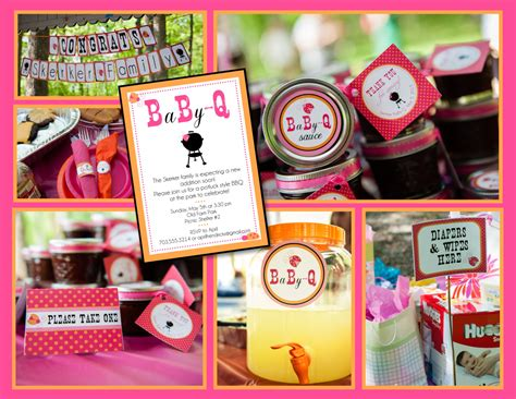 Bbq Themed Baby Shower by Baby Q Coed Baby Shower Bbq Whole Pack Pink Orange