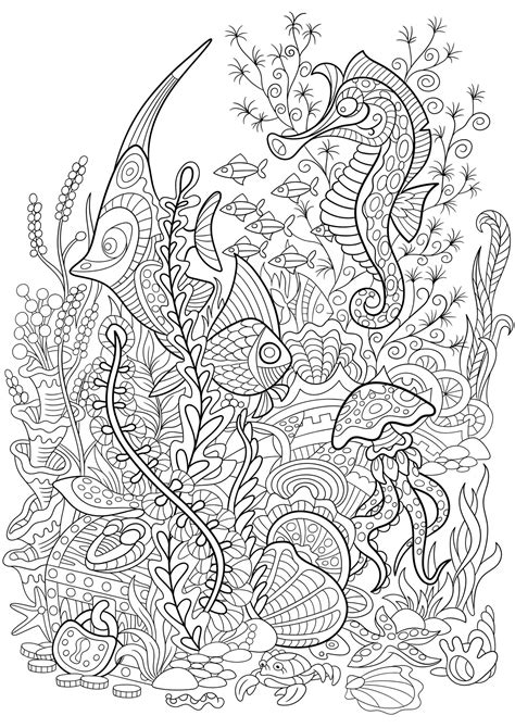 Seaworld - Water worlds Adult Coloring Pages