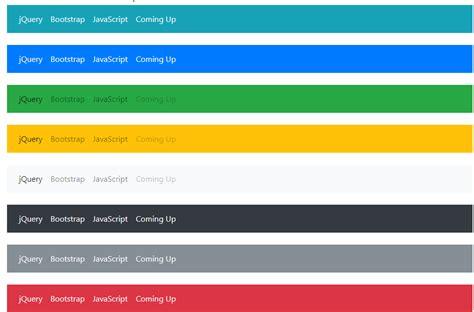 bootstrap 4 navbar menu the navigation header with 10