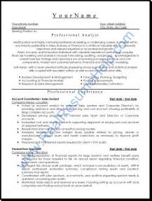 Professional Resumes Format by Professional Analyst Resume Sle Real Resume Help