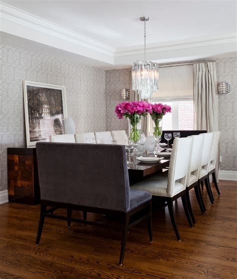dining room with bench dining chair trends for 2016 from vintage elegance to