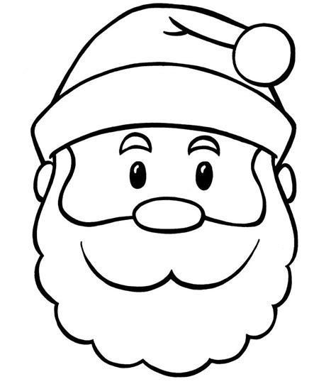 printable santa face template 60 best santa templates shapes crafts colouring pages