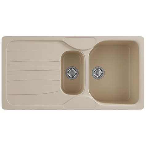 fragranite kitchen sinks franke calypso cog 651 fragranite 1 5 bowl kitchen inset