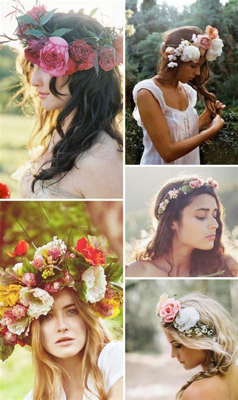 Haarkranz für die Hochzeit aus echten Blumen   Friedatheres.com