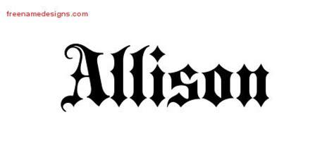 allison archives page      designs