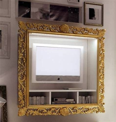 cornice tv cornice oro per tv style cornice