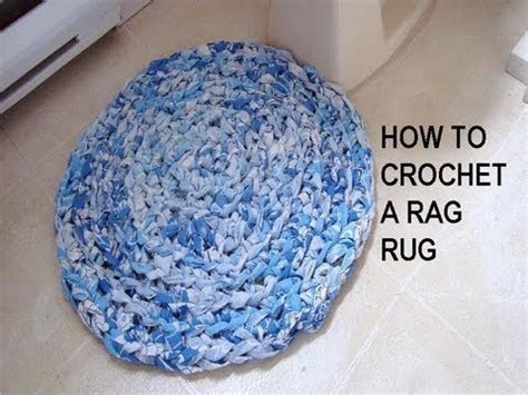 How To Crochet A Rag Rug Recycle Project Youtube How To Crochet A Rag Rug