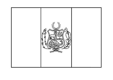 Flag Of Peru Coloring Page peru flag coloring page az coloring pages