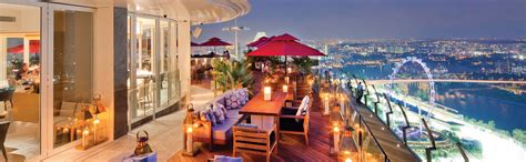 Bar On Top Of Marina Bay Sands by C 201 La Vi Lounge On Skypark With Singapore City View