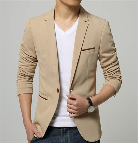 Blazer Korea Slimfit 5 mens korean slim fit fashion blazer suit jacket black blue beige plus size m to 5xl blazers