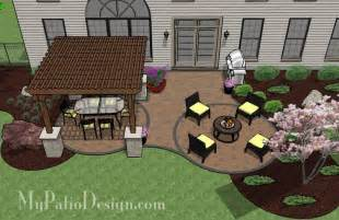 Patio Layout by Curvy Patio With Shade My Patio Design Pinterest