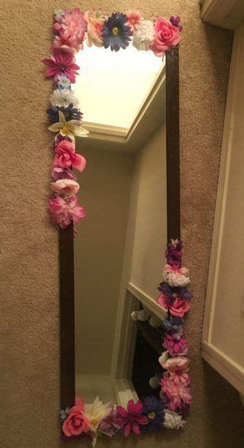 decorar espejos con flores decorar con flores artificiales la cartera rota