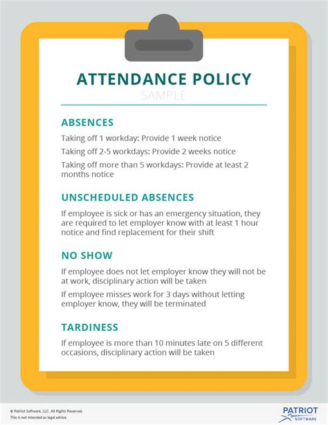 attendance policy template attendance policy template image collections free