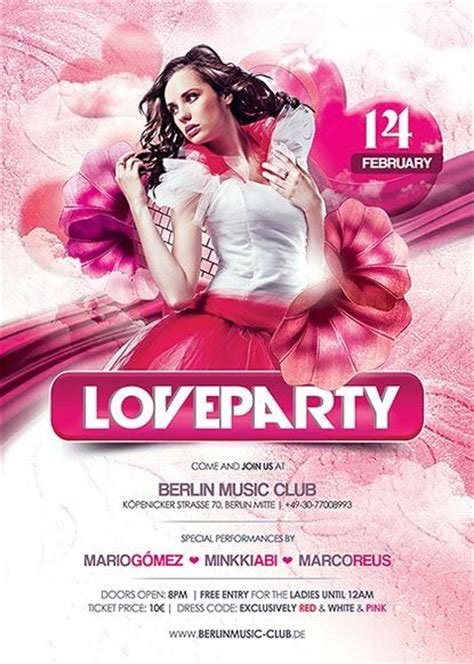 free photoshop templates for valentines day club flyers flyers and party flyer on pinterest