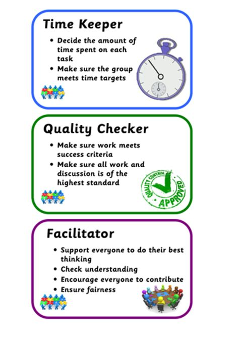 Co Op Gift Card - collaborative cooperative learning group role cards set of 8 by mrsminchin