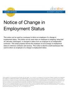 Change Of Status Cover Letter by Sle Letter To Change Employment Status Best Photos Of