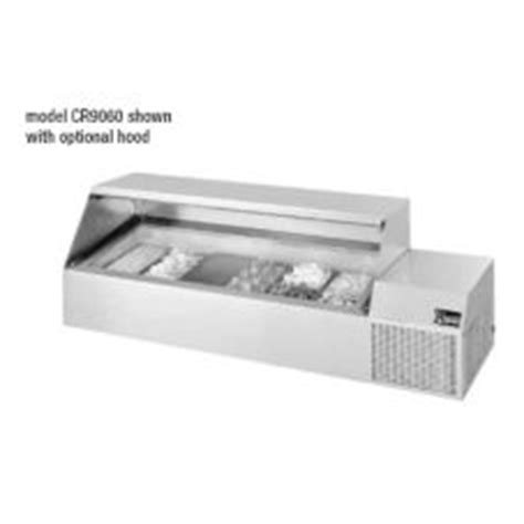Countertop Refrigerated Prep Rail by Randell 174 Cr9060 Refrigerated Countertop 60 Quot Condiment Rail Cr9060 Cold Food Table