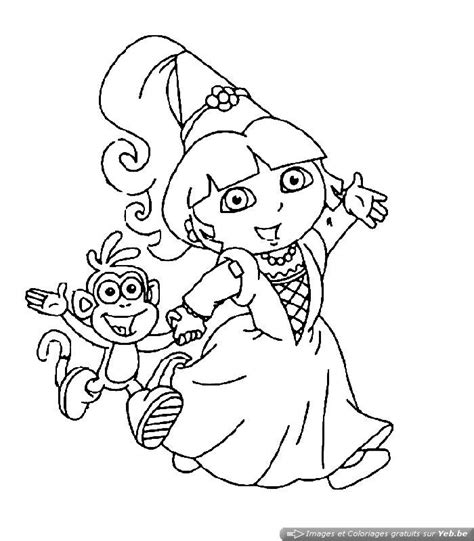 dora and friends coloring pages nick jr coloriage dora est une f 233 e et une princesse dans la