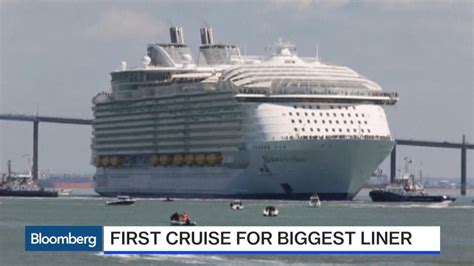 largest cruise ship world s biggest cruise ship makes maiden voyage
