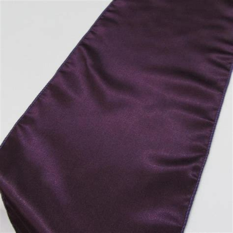 10 x eggplant aubergine satin table runners new in