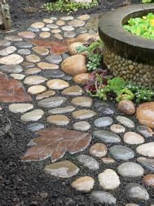 river stone walkway idea seven diy projects