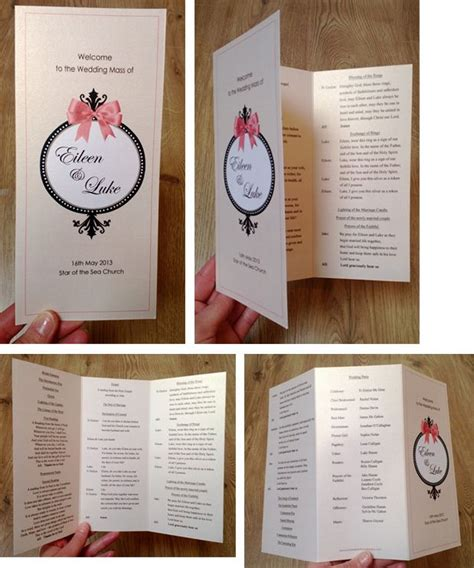 Mass Booklets Templates For Weddings | 1000 images about wedding mass booklet on pinterest
