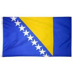 Bosnian flag bosnia flag herzegovina flag from flags unlimited