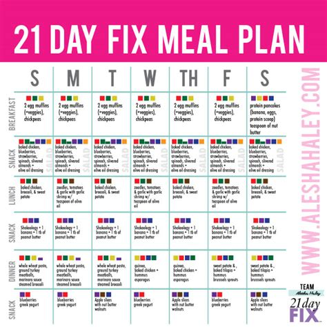 21 day fix meal plan 21 day fix pinterest meals