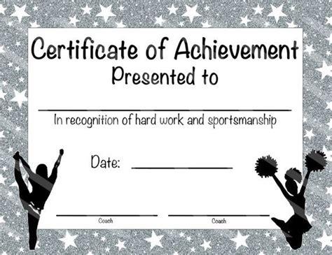 cheerleading certificate templates free cheerleading certificate cheerleading by