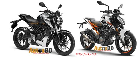 ktm vs honda comparison honda cb125r vs ktm duke 125