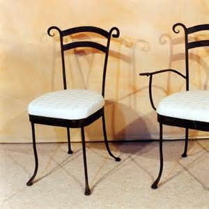 chaise d interieur en fer forg 233 mod 232 le flore fabrication