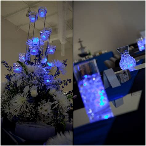 wedding centerpieces with led lights lighting and centrepieces aqua lights wedding event lighting and decor